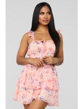 Taste Of Sweetness Floral Dress   Pink by Fashion Nova