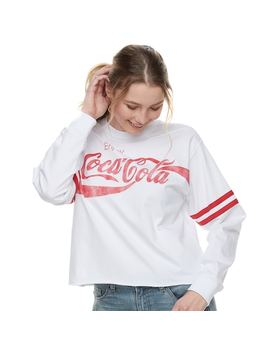Juniors' Coca Cola Striped Crop Tee by Kohl's