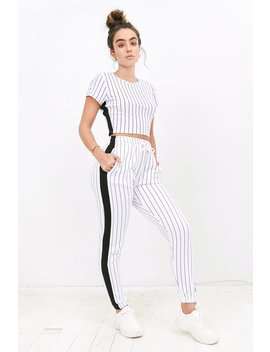 Sommer Ray High Rise Side Stripe Jogger by Urban Planet