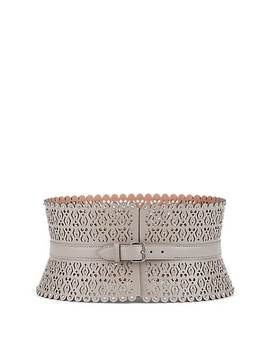Wide Leather Belt by Alaïa