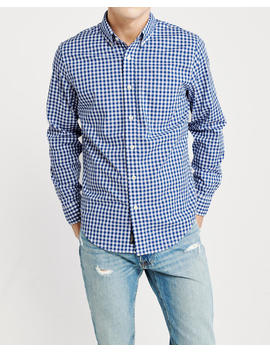 Gingham Poplin Shirt by Abercrombie & Fitch