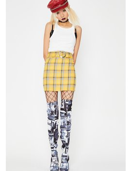 Sunny Boo'd Up Clique Mini Skirt by Sans Souci Clothing