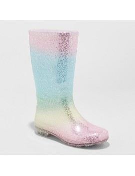 Girls' Evelyn Glitter Rain Boots   Cat & Jack™ Pink by Cat & Jack