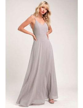Meteoric Rise Light Grey Maxi Dress by Lulus