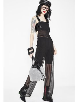 In The Dark Sheer Overalls by Cherry Mellow