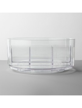 Bathroom Plastic Spinning Turntable Beauty Organizer Clear   Made By Design™ by Made By Design