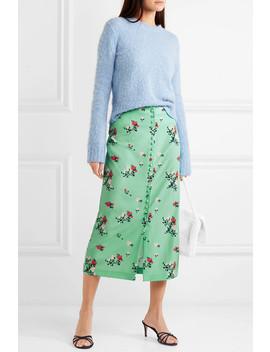 Floral Print Crepe De Chine Midi Skirt by Bernadette
