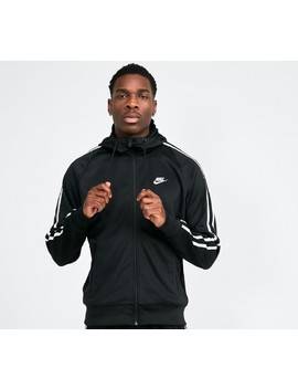 Tribute Hooded Track Top   Black / White / Black by Nike