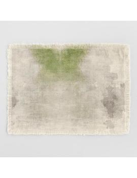 Green Watercolor Tie Dye Placemats Set Of 4 by World Market