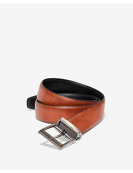 Reversible Perforated Buckle Stretch Strap Belt by Express