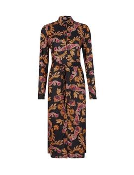 Black Paisley Print Shirt Dress by Dorothy Perkins