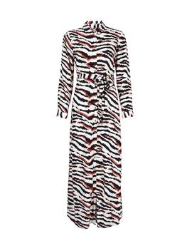 Petite Multi Coloured Zebra Print Maxi Shirt Dress by Dorothy Perkins
