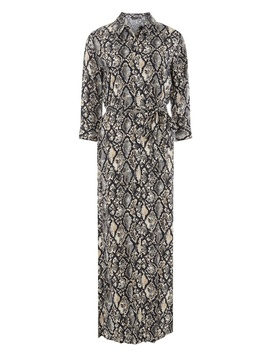 Multi Colour Snake Print Shirt Maxi Dress by Dorothy Perkins
