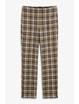 Plaid Trousers by Monki