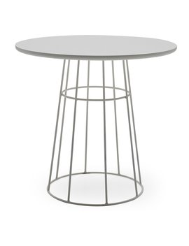 Mo Drn Scandinavian Kipper Round Cafe Table by Mo Drn