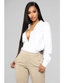 Right My Wrongs Top   White by Fashion Nova