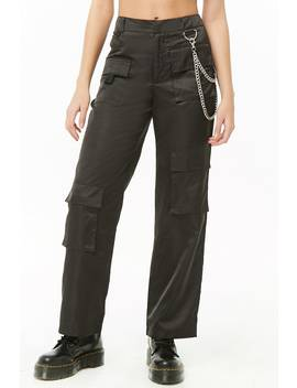 Chain Accent Cargo Pants by Forever 21
