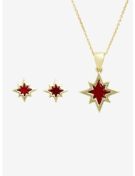 Marvel Captain Marvel Jewelry Set by Hot Topic