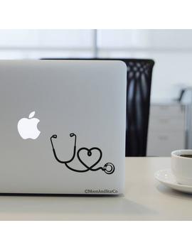 Stethoscope Heart, Nurse Decal, Nurse Sticker, Nurse Life, Stethoscope, Laptop Stickers, Laptop Decal, Macbook Decal, Car Decal, Vinyl Decal by Etsy