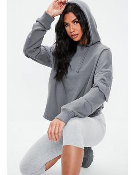 Gray Military Pocket Sleeve Hoodie by Missguided