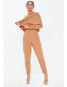 Tall Camel Basic Joggers by Missguided