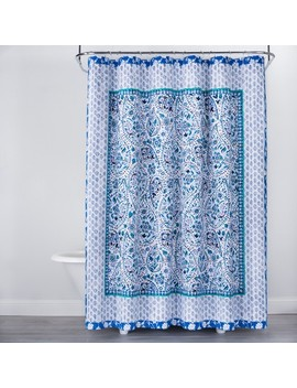 Bandana Print Shower Curtain Blue   Opalhouse™ by Opalhouse
