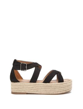 Faux Suede Espadrille Platform Sandals by Forever 21