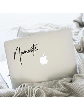 Namaste (1), Namaste Decal, Namaste Sticker, Namaste Laptop, Namaste Car, Laptop Stickers, Laptop Decal, Macbook Decal, Car Decal, Decal by Etsy