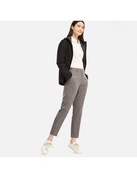 Women Ezy Ankle Length Pants (Windowpane A) by Uniqlo