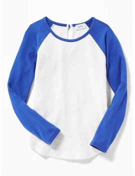 Plush Knit Raglan Sleeve Top For Girls by Old Navy