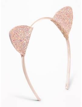Glitter Cat's Ear Headband For Girls by Old Navy