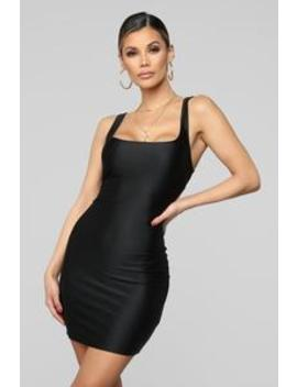 Mami Casual Square Neck Mini Dress   Black by Fashion Nova