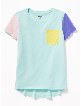 Relaxed Softest Pocket Tee For Girls by Old Navy