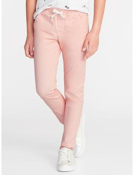 Twill Pull On Anytime Chinos For Girls by Old Navy