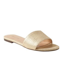 Metallic Canvas Slide Sandal by Banana Repbulic