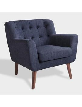 Navy Blue Mid Century Shay Chair by World Market