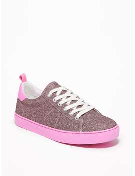 Glitter Covered Sneakers For Girls by Old Navy