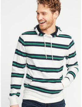 Rugby Stripe Jersey Pullover Hoodie For Men by Old Navy