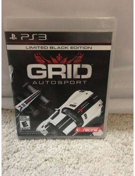 Ps3 Grid Autosport  Limited Black Edition Case & Manual  Clean Disc Adult Owned by Ebay Seller
