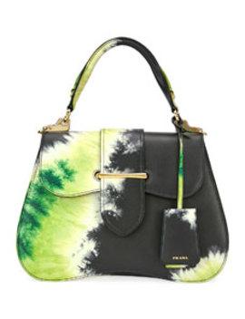 Tie Dye Prada Sidonie Top Handle Tote Bag by Prada
