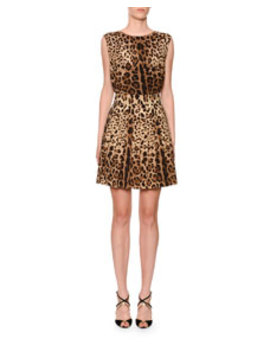 Leopard Print Sleeveless Top by Dolce & Gabbana