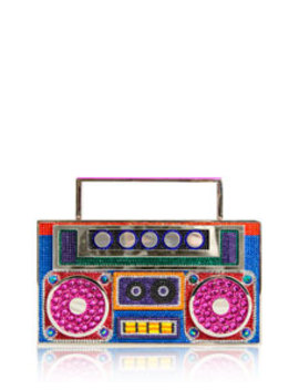 Boom Box Brooklyn Crystal Clutch Bag by Judith Leiber Couture