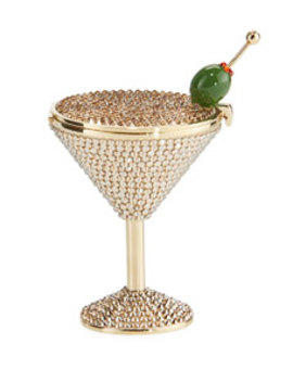 Martini Crystal Pill Box by Judith Leiber Couture