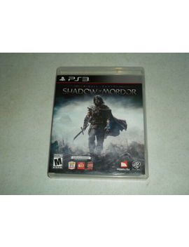 Middle Earth: Shadow Of Mordor Ps3 (Sony Play Station 3, 2014) by Ebay Seller