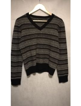 Number (N)Ine Takahiro Miyashita Stripes Destroy Detail Sweater Size 3 Grey by Number (N)Ine