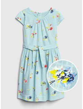 Floral Tie Belt Dress by Gap