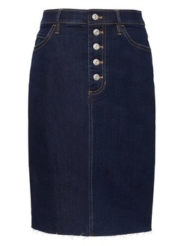 Button Fly Denim Skirt by Banana Repbulic