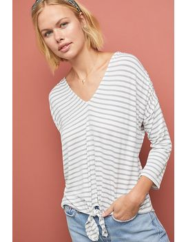 Hadley Striped Top by Bordeaux