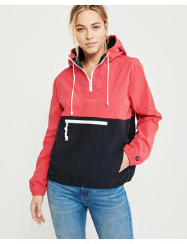 Half Zip Windbreaker by Abercrombie & Fitch