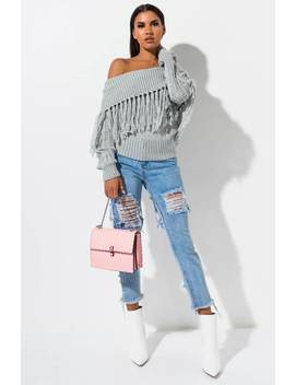 Demmy Distressed Sweater Top by Akira